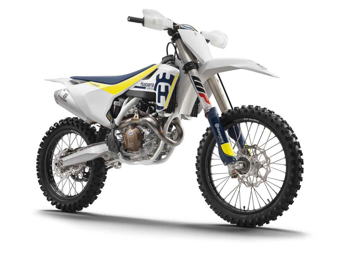 Stock image of a Husqvarna Motorcycle