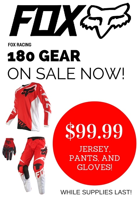 FOX Racing - 180 Gear Sale Flyer Image